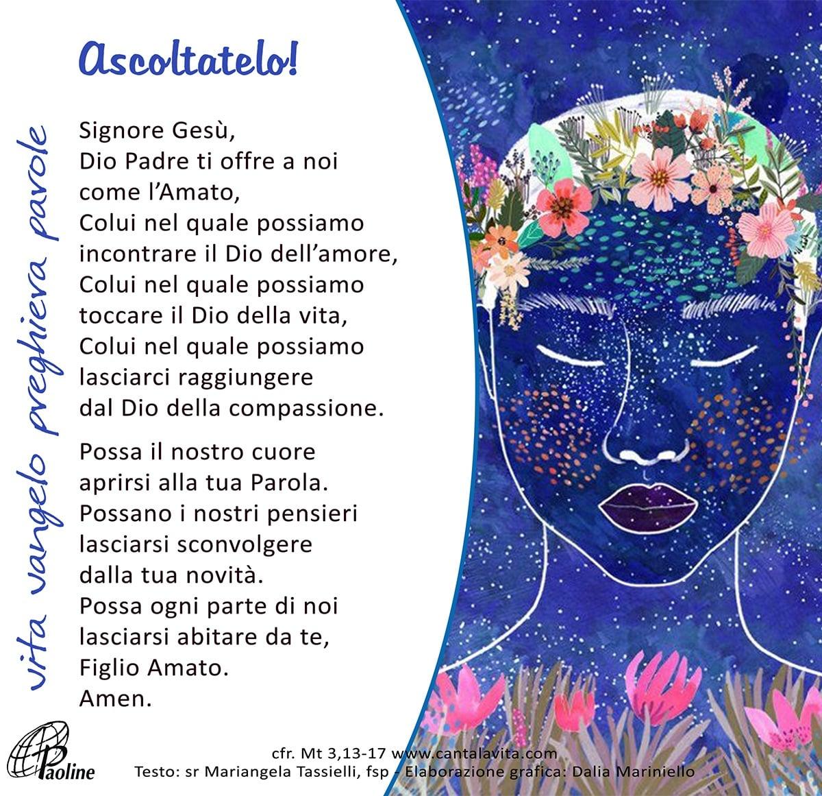 Commento al Vangelo di domenica 12 Gennaio 2020 per bambini/ragazzi – Sr. Mariangela Tassielli