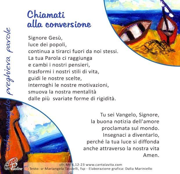 Commento al Vangelo di domenica 26 Gennaio 2020 per bambini/ragazzi – Sr. Mariangela Tassielli