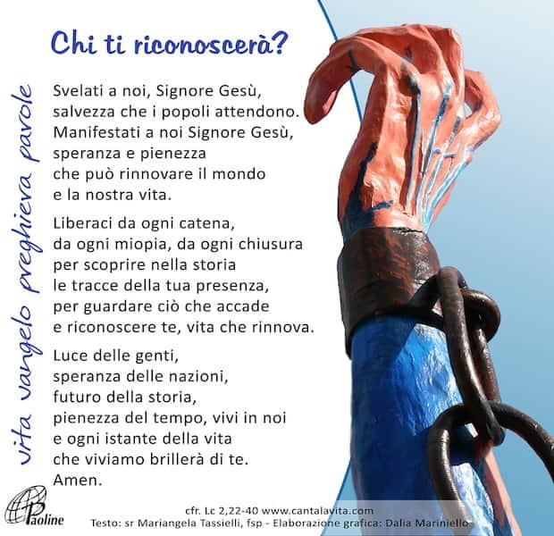 Commento al Vangelo di domenica 2 Febbraio 2020 per bambini/ragazzi – Sr. Mariangela Tassielli