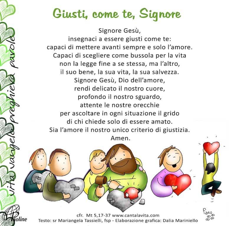 Commento al Vangelo di domenica 16 Febbraio 2020 per bambini/ragazzi – Sr. Mariangela Tassielli