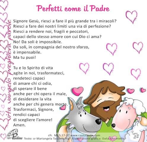 Commento al Vangelo di domenica 23 Febbraio 2020 per bambini/ragazzi – Sr. Mariangela Tassielli