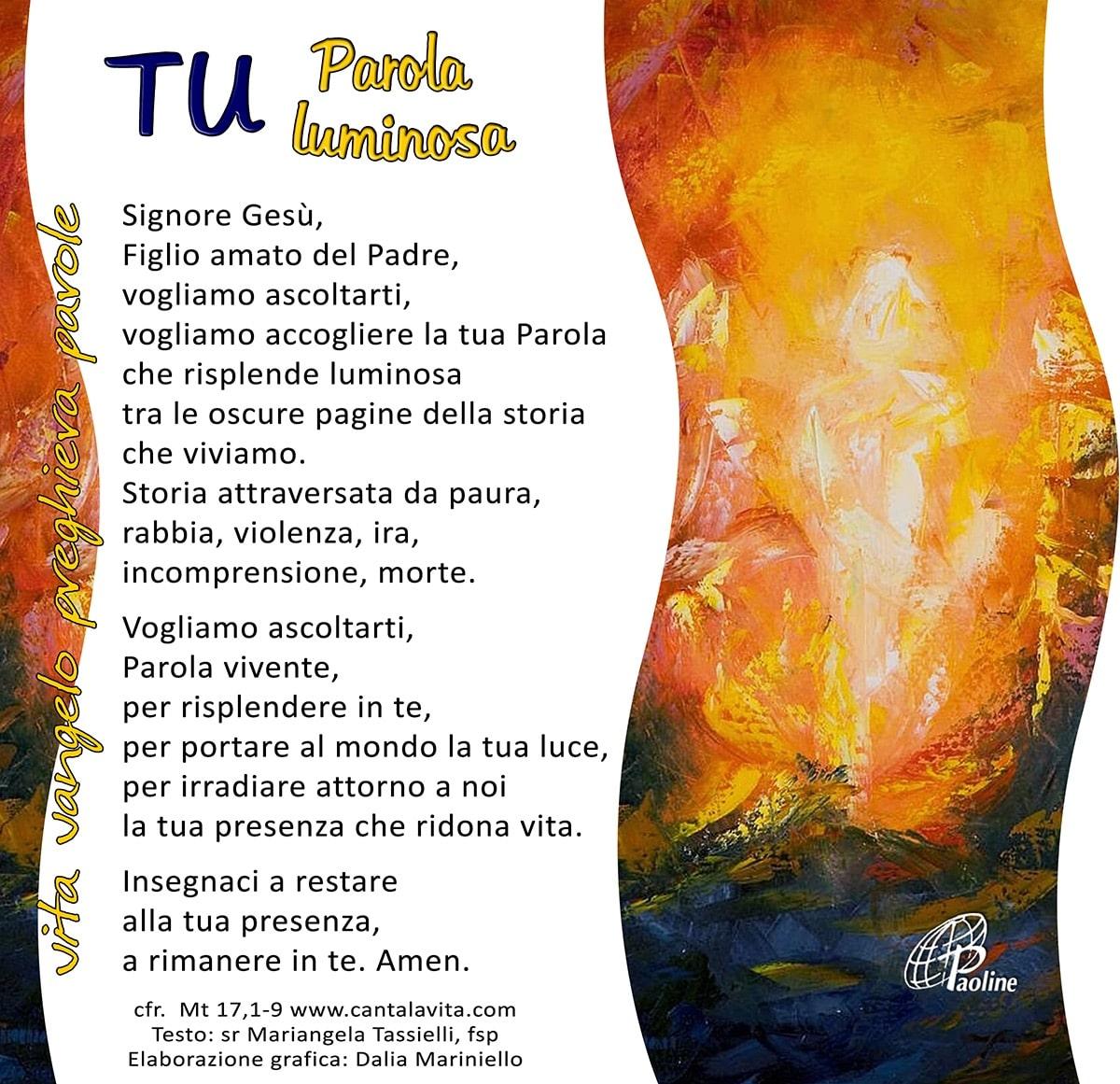 Commento al Vangelo di domenica 8 Marzo 2020 per bambini/ragazzi – Sr. Mariangela Tassielli