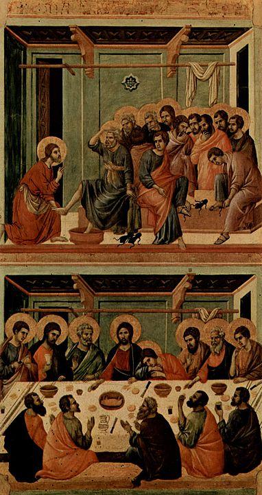 Duccio da Buoninsegna, La lavanda dei piedi, 1308-1311, Museo dell'Opera del Duomo- Siena